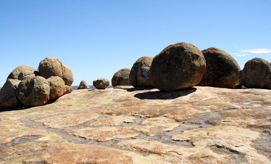 Het graf van Cecil Rhodes in matabo NP