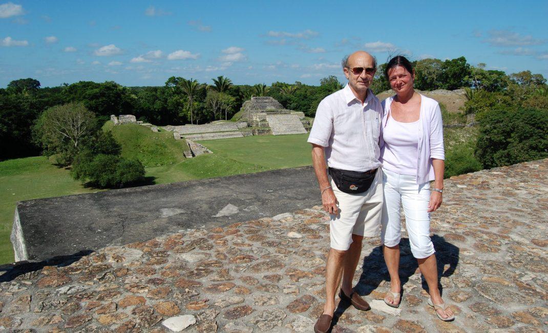 10. Paul en Marina in Altun Ha, Belize