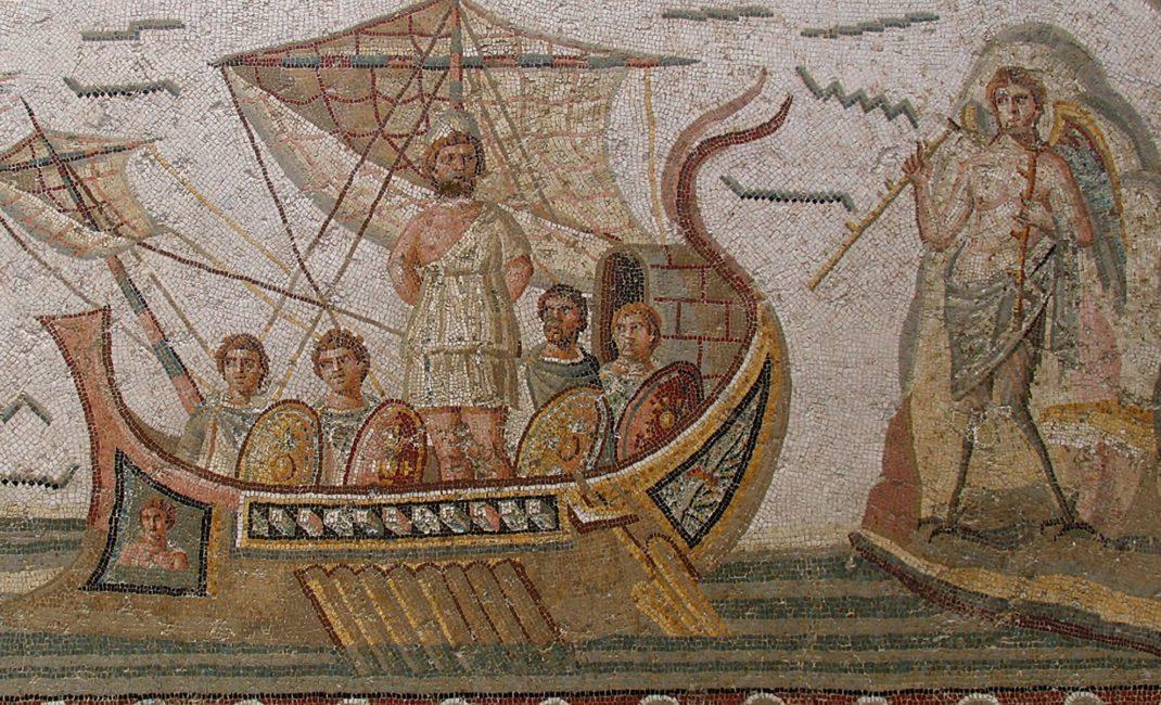 Bardo - Ulysses vastgebonden aan de mast (Dougga)