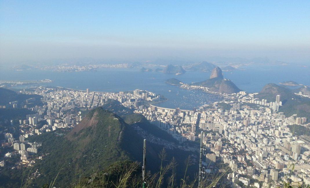 Het zicht op Rio van aan het Christusbeeld is het échte wereldwonder hier.