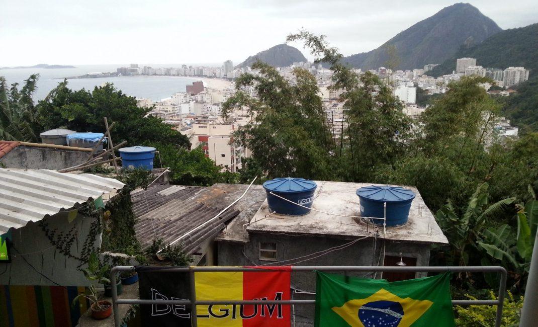 Het zicht op Rio van aan dit restaurant is om van te genieten.