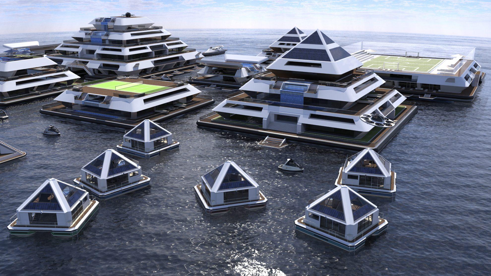 Drijvende piramides