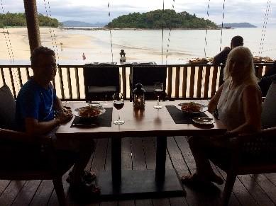 eten op strand