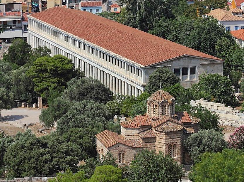 De stoa van Attalos op de Griekse Agora