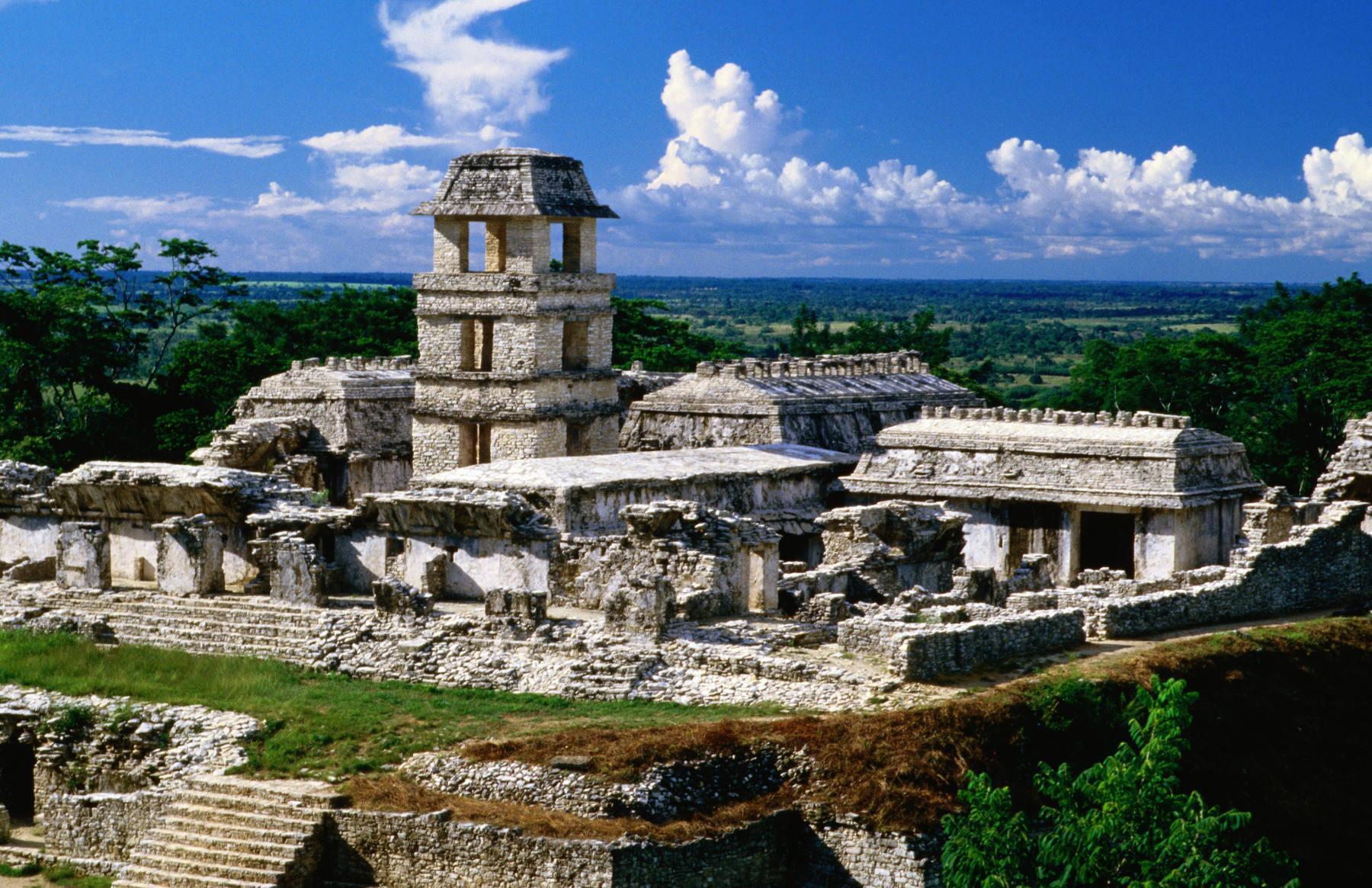 Maya ruïnes