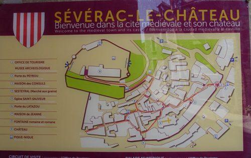 wandelmap - Sévérac-le-Chateau - Frankrijk