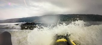 Golven op Loch Ness