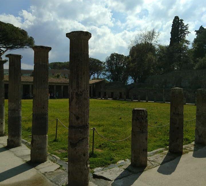 tuin van een van de romeinse villa's